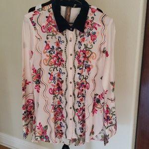 aratta silent Journey Tops - Aratta ED17H310 Shana Shirt Fabulous M